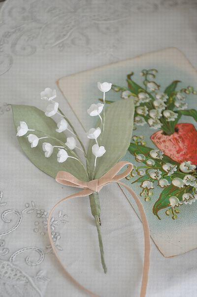 スズランの布花♪