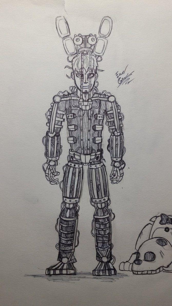 Springtrap Endoskeleton Fnaf3 Tradicional Art By Edgar Games Fnaf Coloring Pages Fnaf Drawings Anime Fnaf