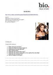 shakira biography essay