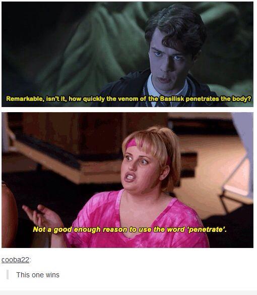 Harry Potter / Pitch Perfect meme