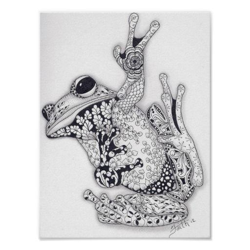 Full Size Tree Frog Poster Zazzle Com Frog Art Frog