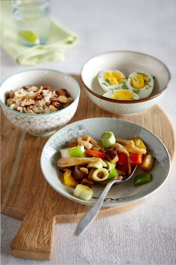 Rijst met noten en groenten in oosterse saus #Avogelrecepten