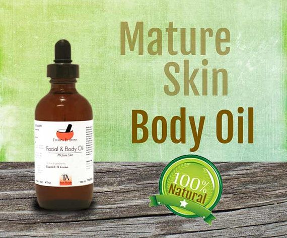 Natural Mature Skin Essential Oil treatment  by TherapiaByAroma, $28.00
