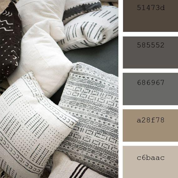color palette beige ecru camel brown nature colores