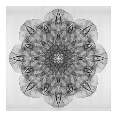 Pôster abstrato Mandala4, desenvolvido pelo artista Laís Dias. Este quadro decorativo, de cor predominante branco, está disponível no formato quadrado. #LaísDias #Branco #Abstratos #Quadrado