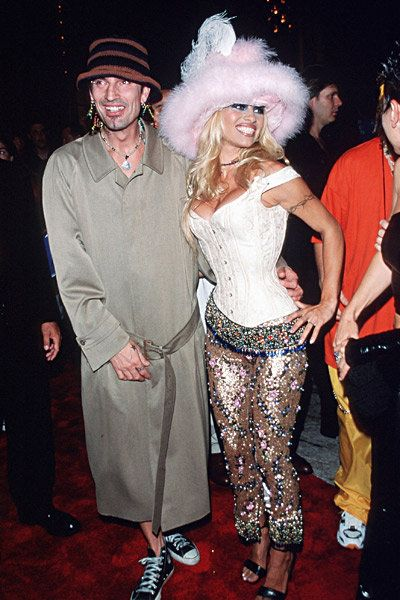 Tommy Lee & Pamela Anderson at the 1999 Video Music Awards