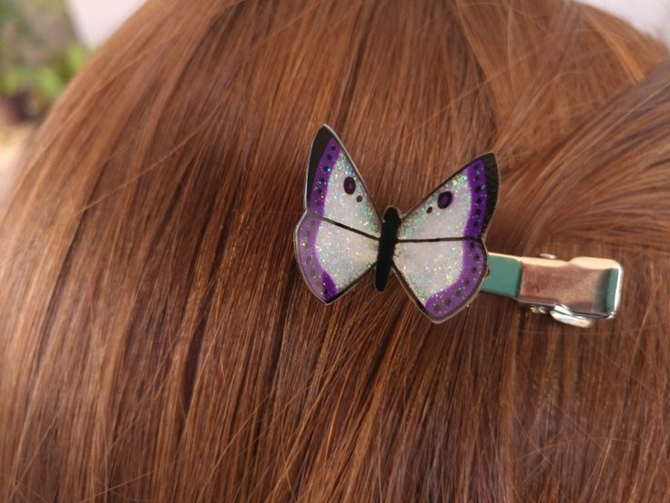 Butterfly Hair Clip / Purple (Small)
