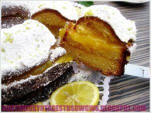 ΚΕΙΚ ΛΕΜΟΝΙ ΓΕΜΙΣΤΟ ΜΕ ΥΠΕΡΟΧΗ ΚΡΕΜΑ ΛΕΜΟΝΙΟΥ!!! - Νόστιμες συνταγές της Γωγώς!