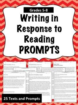 response to literature writing prompts Essay prompts are statements that focus on a topic or an issue, followed by questions the purpose of an essay prompt is to inspire a response in the form of an essay, which will test your writing, reasoning, and analytical skills essay prompts are frequently used in english composition and literature classes, and in college.