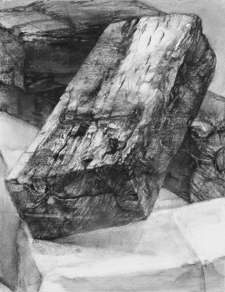 2014/charcoal drawing/monochrome/wood
