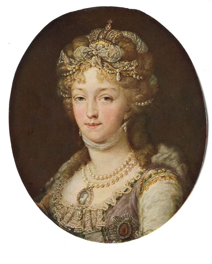 Elizabeth Alexeievna, wife of Tsar Alexander I of Russia (born 1779, died 1826) unknown painter, unknown year, probably in the end of 1790s