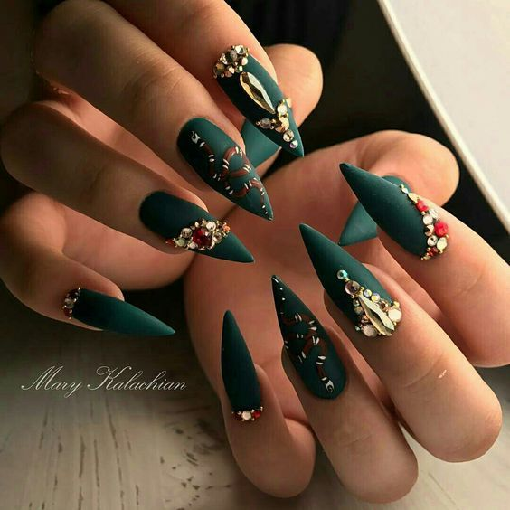 Best 25 crazy acrylic nails ideas on pinterest crazy nails 61 acrylic nail designs for fall and winter prinsesfo Images