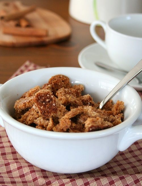 Cinnamon Crunch Cereal - make sure you let it cool fully or it won't be crisp. My kids love this!