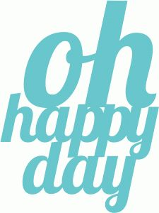Silhouette Online Store: oh happy day
