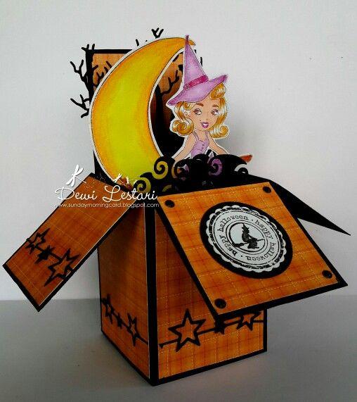 #whimsystamps #cardinabox #popupbox #handmade #halloween #forsale