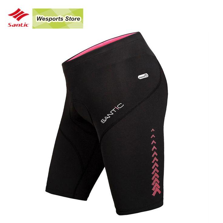Santic Women Summer Padded Cycling Shorts MTB ciclismo Bicycle Bike Shorts Cycling Bike Tights trousers Downhill mtb shorts #Affiliate