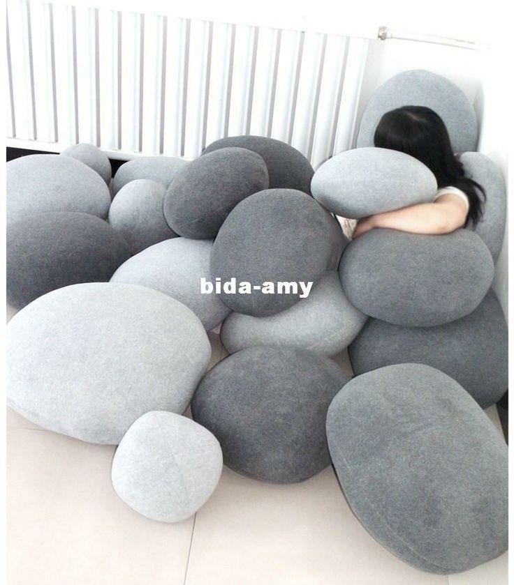 Living Stone Floor Pillows : Wholesale Pillow - Buy ST01-6 Living Stones Pillow 20X20cm Rock Pillow Floor Pillow Cushion ...