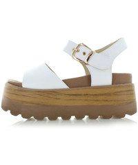 Ideal Biele platformové sandále Trala