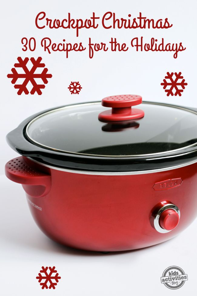 Crockpot Christmas: 30 Holiday Slow Cooker Recipes perfect for a busy holiday season - great family dinner recipes