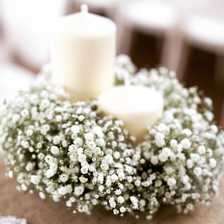 Candles in flower