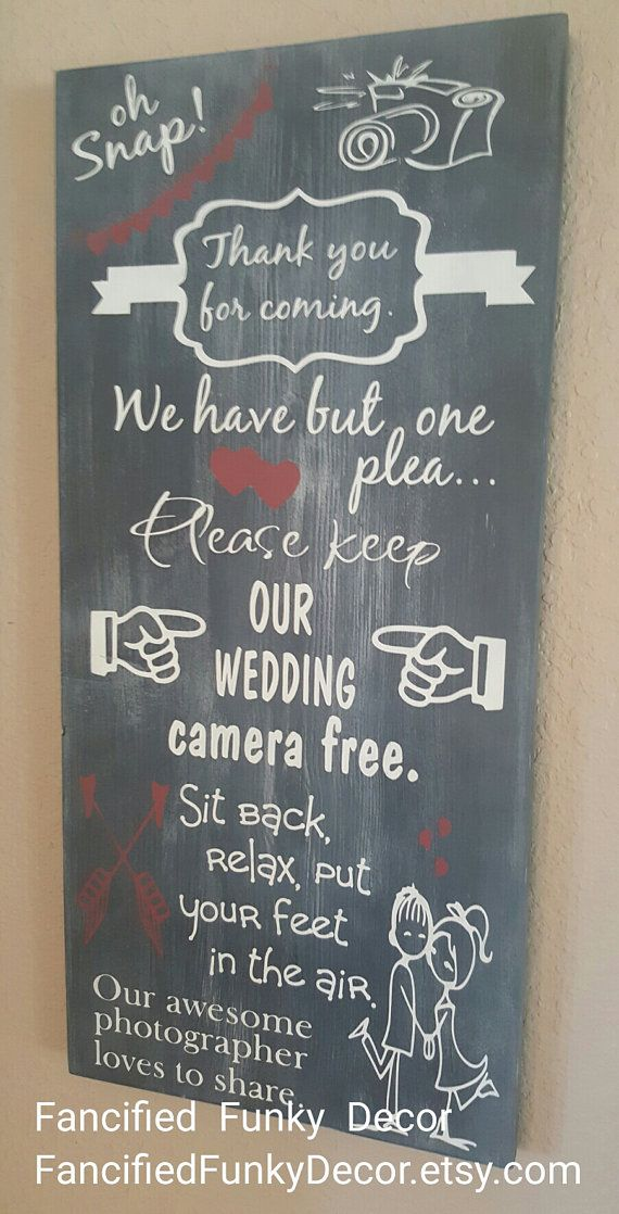 Camera free wedding, unplugged https://www.etsy.com/listing/387339758/please-keep-our-wedding-camera-free
