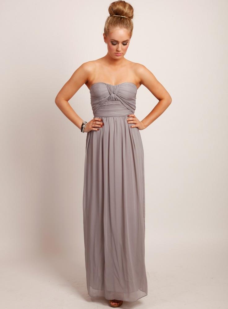 Little History Maxi Dress Dove Grey Bridesmaid