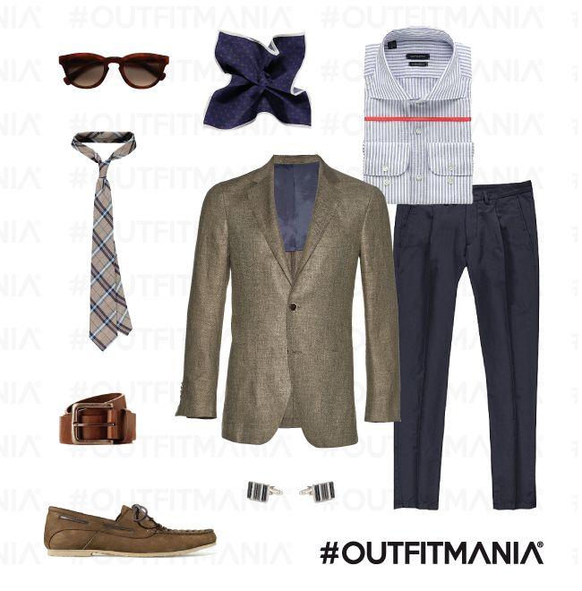 "What To Wear To Parties: pool party: gentleman contemporaneo |  Una giacca in misto lino-seta, dei navy trousers con pinces frontale e accessori ""di gusto""... | #outfitmania #outfit #style #fashion #dresscode #amazing #jacket #man #shirt #pants #parties #shoes #freetime #suitsuplly #sunglasses #lino #mocassino #blazer #topman #pochette #man | CLICCA SULLA FOTO PER SCOPRIRE L'OUTFIT E COME ACQUISTARLO"