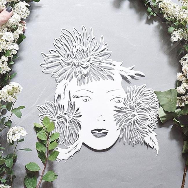 Kağıt Kesme Sanatıyla Moda İllüstrasyonları Tasarlayan Sanatçı: 'Eugenia Zoloto' Sanatlı Bi Blog 25