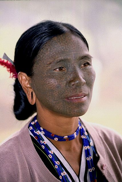 Chin Tribe. In a 200 year-old custom, the Chin ethnic minority group in Myanmar would give their daughters elaborate facial tattoos to ward off attacks from neighboring princes who would often try to kidnap girls to be concubines.