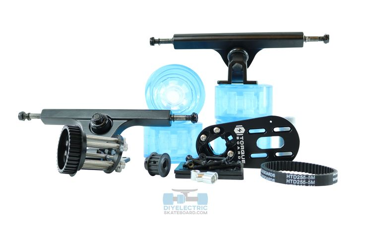 """TorqueBoards Single Motor Mount Mechanical Kit is a complete """"Hardware / Mechanical Kit"""" to mechanically make a DIY Electric Skateboard. All hardware is made in Mil-Spec 7075-T6 Aircraft Grade Aluminum. BLACK Motor Mounts (50mm and 63mm Mounts) IN STOCK. Ready to ship! LIMITED TIME OFFER!"""