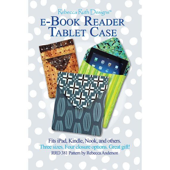 Popular eBook Reader Tablet Case pattern by RebeccaRuthDesigns on Etsy