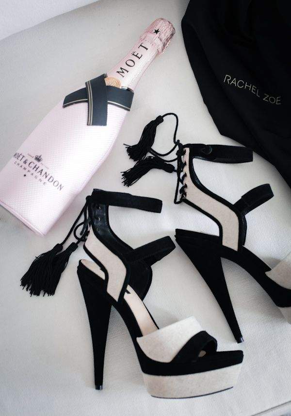 Champagne & shoes. The sign of a good time.