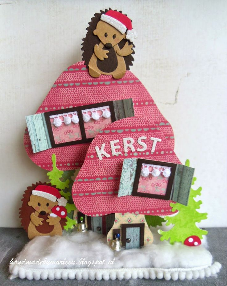 Handmade by Marleen: 2 in 1 Herfst-Kerst creatie