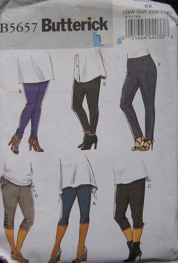 Butterick Leggings Pattern 5657 Plus Size by TheHowlingHag on Etsy