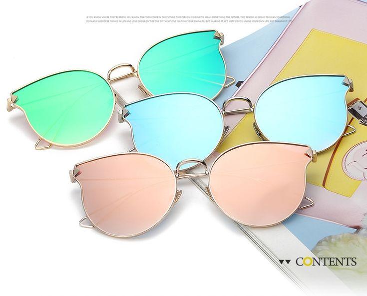 """Солнцезащитные очки """"кошачий глаз"""" с тонкой металлической оправой и стрелками на дужках (в наличии золотая оправа черная глянцевая линза) - 17906"""