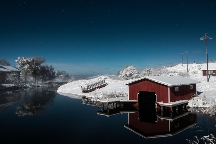 Boathouse in Kökar island, Åland Finland.