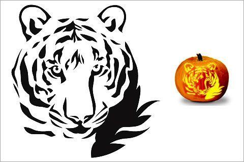 HALLOWEEN - 28 Cat Pumpkin stencil downloads-printable this tiger is so going to be my Auburn tiger halloween pumpkin War Eagle!