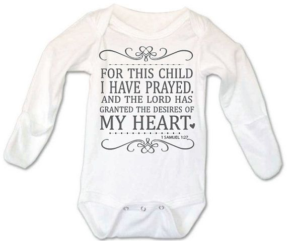 For this Child I have prayed, Christian Baby Onesies®, For this Child,  God Onesie, Christian Onesie, Religious Onesie