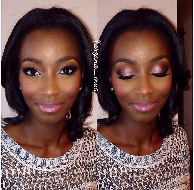 African American Wedding Makeup Inspiration | Wedding Hair And Make Up Ideas | Pinterest ...