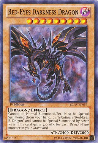 Yu-Gi-Oh! TCG - Red-Eyes Darkness Dragon (LCJW-EN039) - Legendary Collection 4: Joey's World - 1st Edition - Common Card