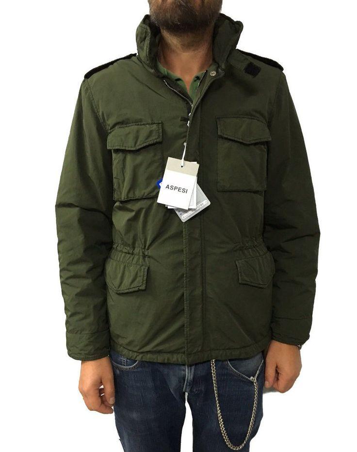 ASPESI giaccone uomo verde mod I 6I01 1024 NEW CAMP JKT Made in Italy