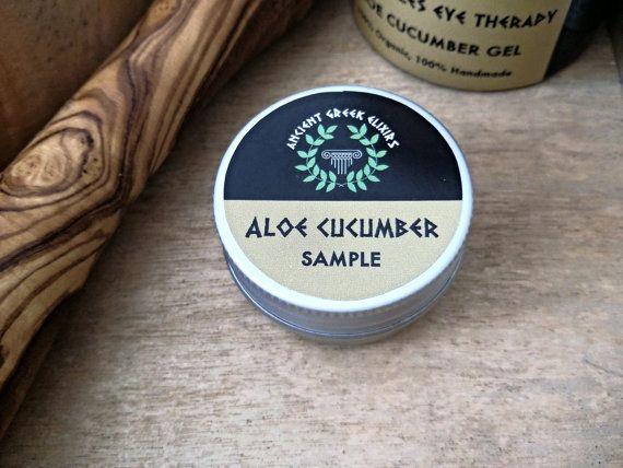SAMPLE dark circle eye cream therapy Aloe by AncientGreekElixirs