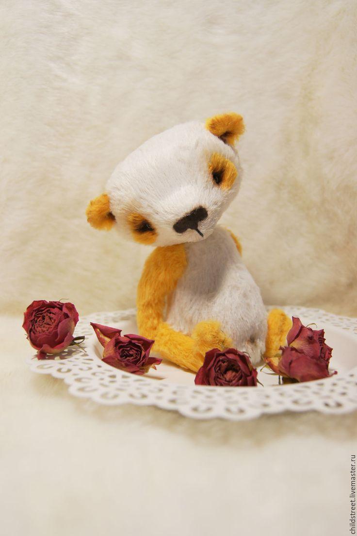 Купить Солнечная панда мишка Тедди - белый, желтый, солнечный, солнечное настроение, купить