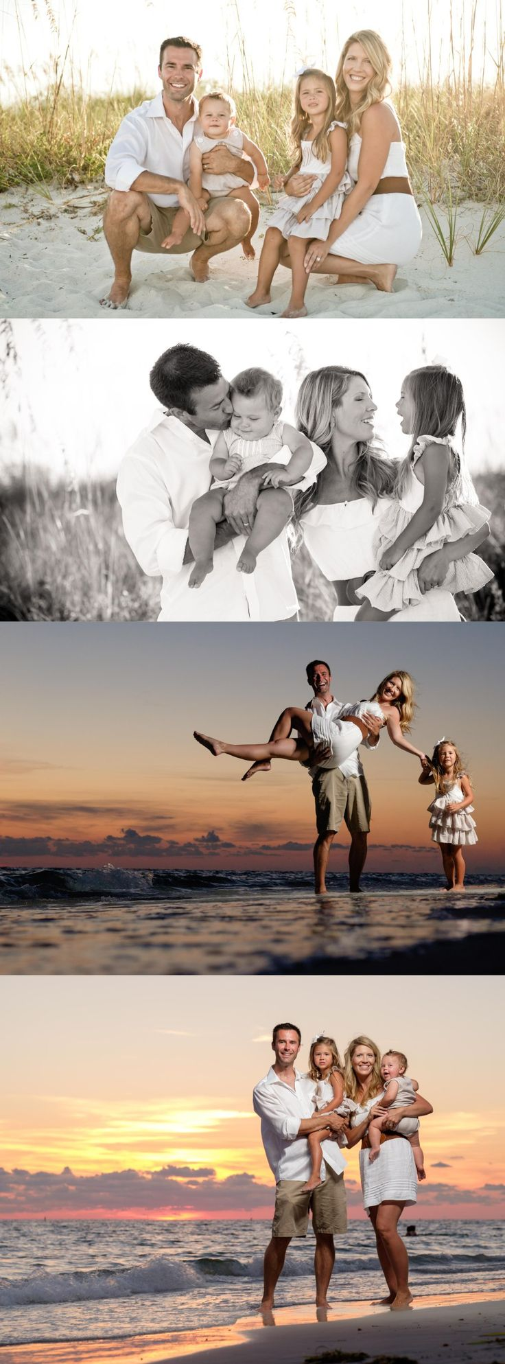 What to Wear: Whites and Tans. Florida Beach Family Portraits by Treasure Island St Pete Beach Photographer Kristen Sloan