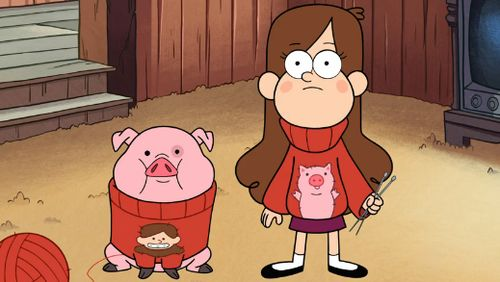 "Grunkle Stan-""Isn't knitting matching sweaters' enough?"" Mabel- ""...Nope."""