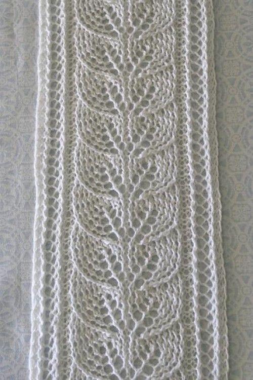 Coluna de lenço de folhas - padrão livre (belas habilidades - Crochet Knitting Quilting)