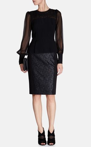 Your Style Lab | Zwarte kokerrok Karren Millen