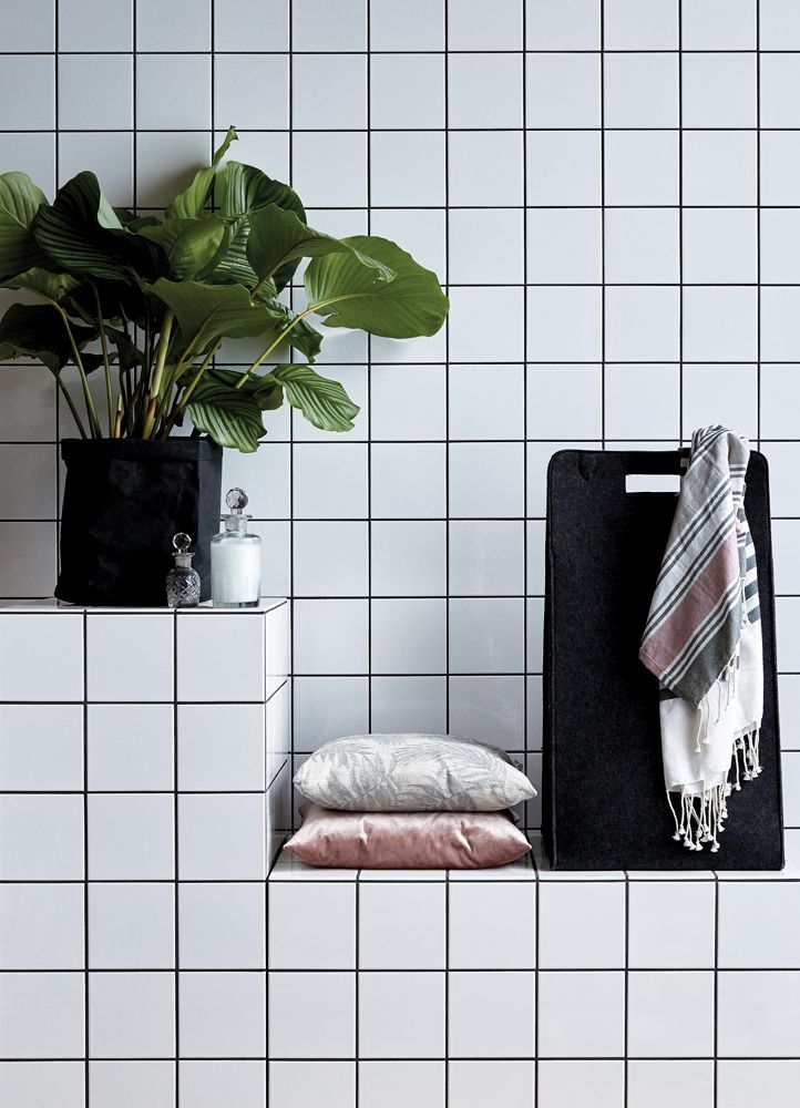 A.U Maison SS17. #aumaison #interior #homedecor #styling #danishdesign #bathroom #laundrybasket #plant