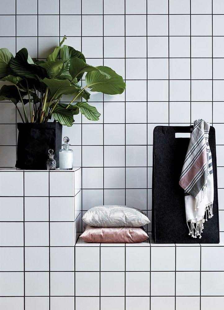 A.U Maison SS17. #aumaison #interior #homedecor #styling #danishdesign #bathroom #laundrybasket #plant