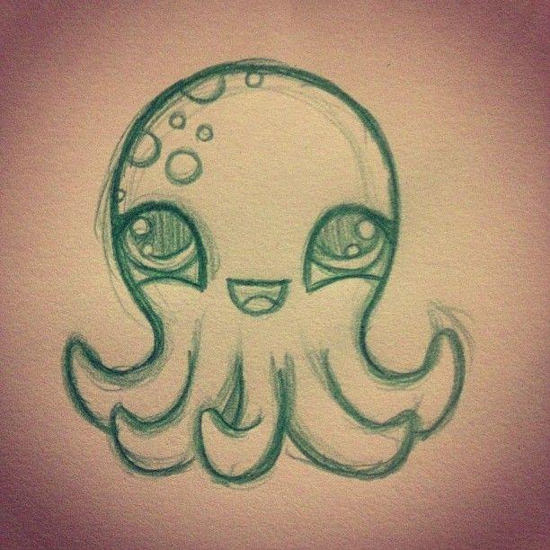 Cute Octopus Drawing דברים חמודים Pinterest Drawings Art